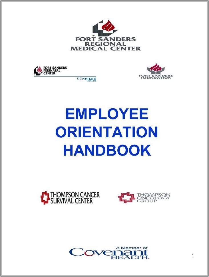 Employee Orientation Manual Template