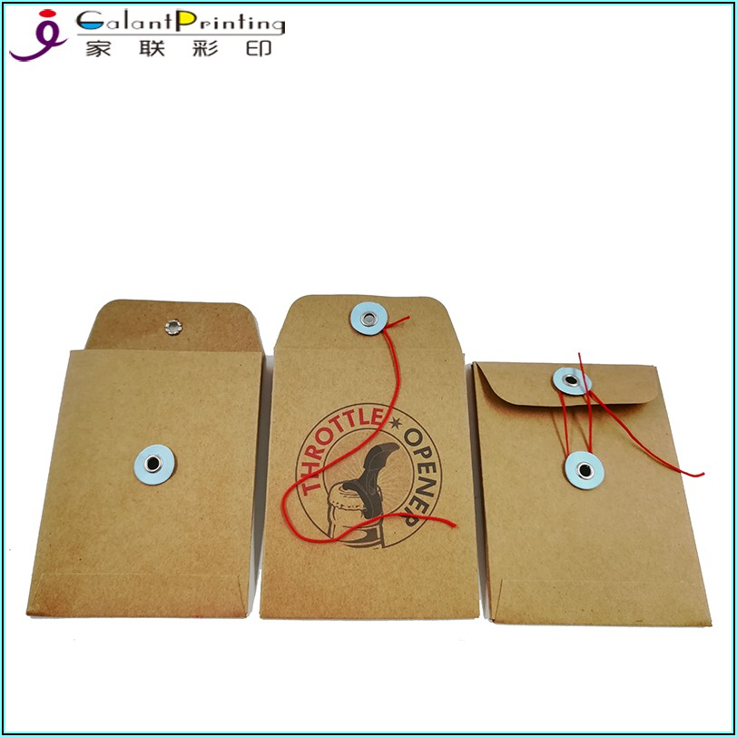 Envelope With Button And String Closure