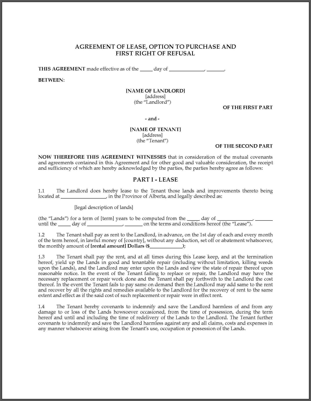 Farm Land Rental Agreement Sample