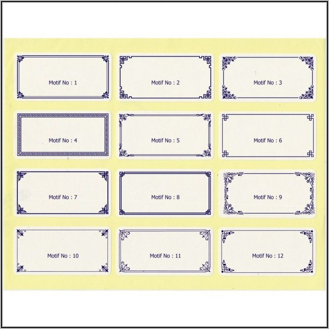 File Cabinet Drawer Label Template Word