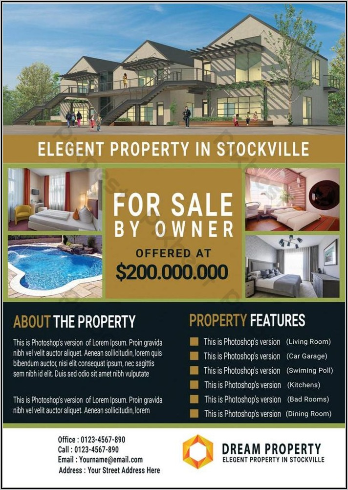 For Sale By Owner Real Estate Flyer Template
