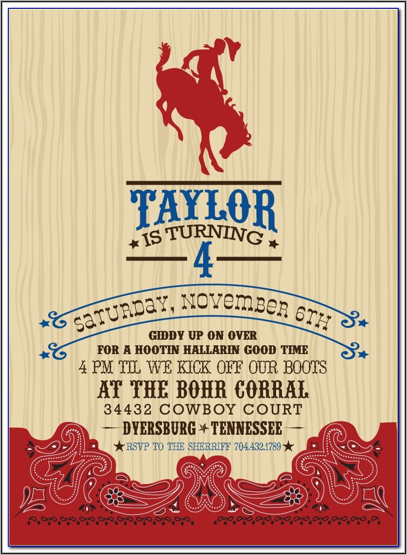Free Country Western Invitation Templates