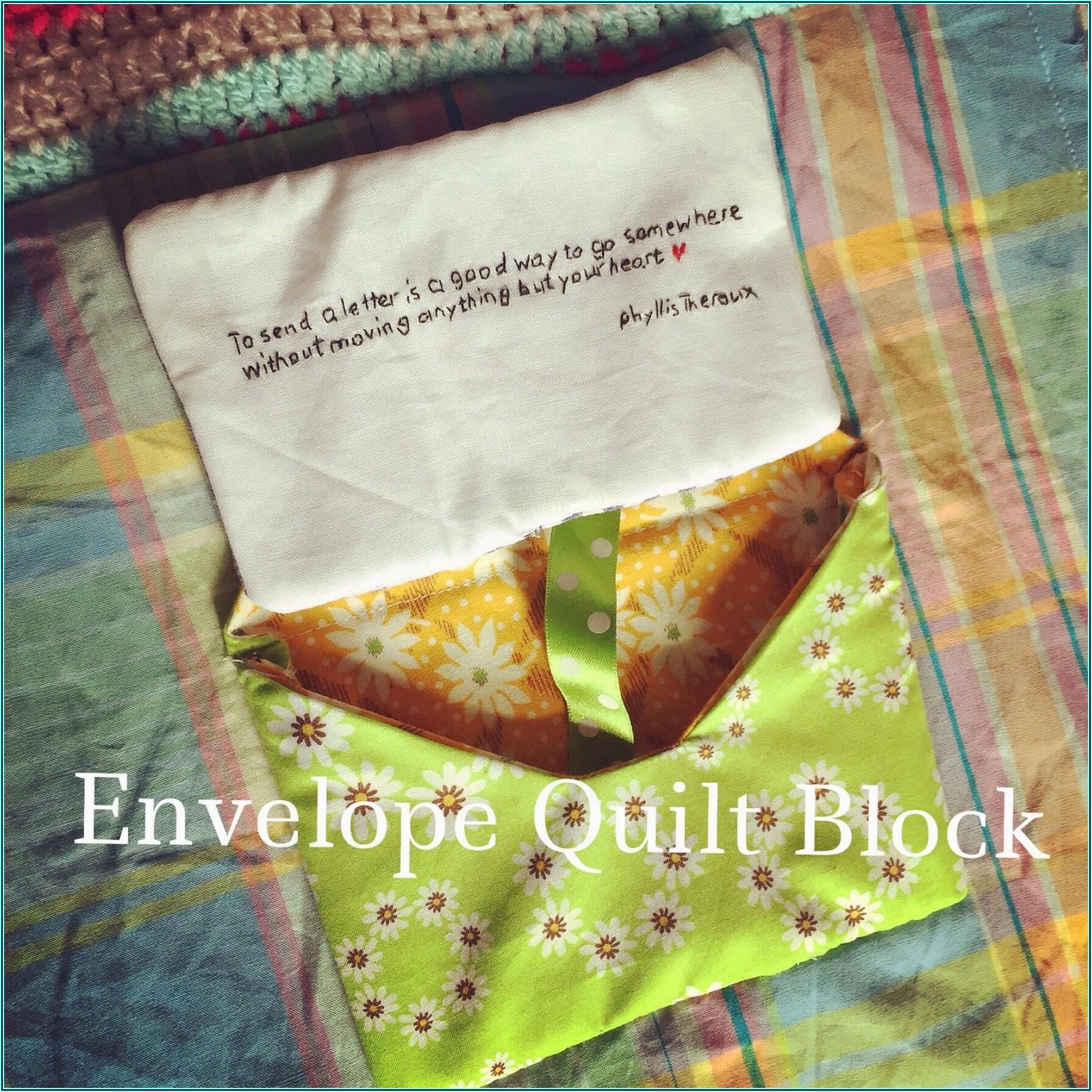 Free Envelope Quilt Block Pattern