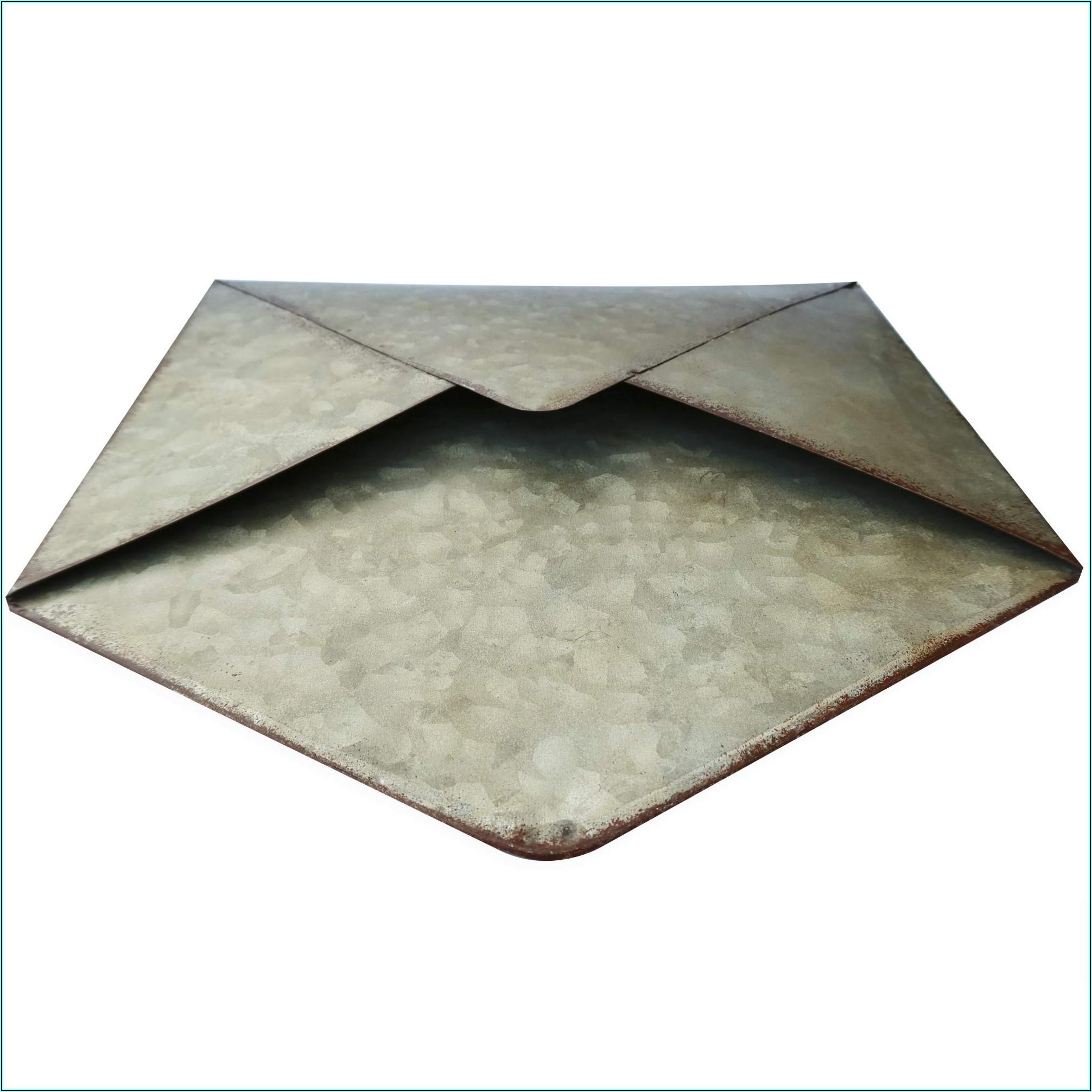Galvanized Metal Wall Mounted Hanging Envelope Decor