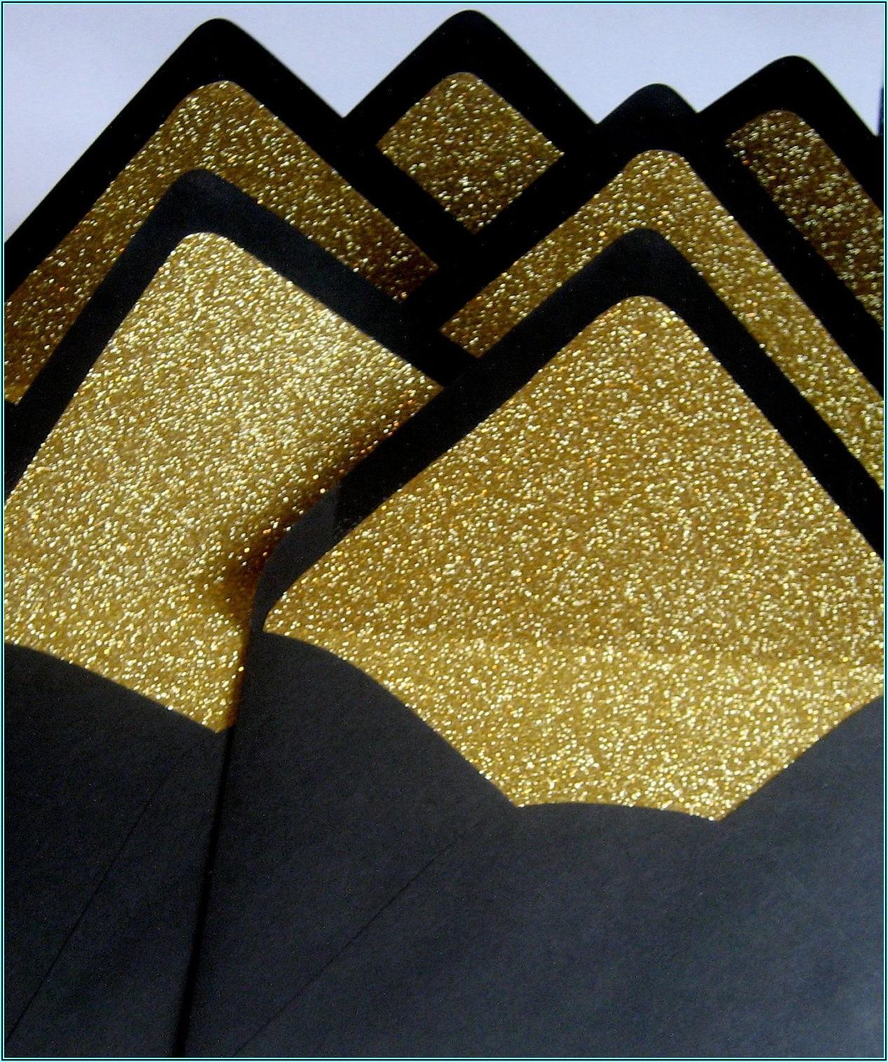 Gold Glitter Lined Envelopes