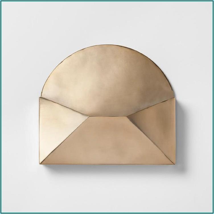 Gold Metal Envelope Wall Decor