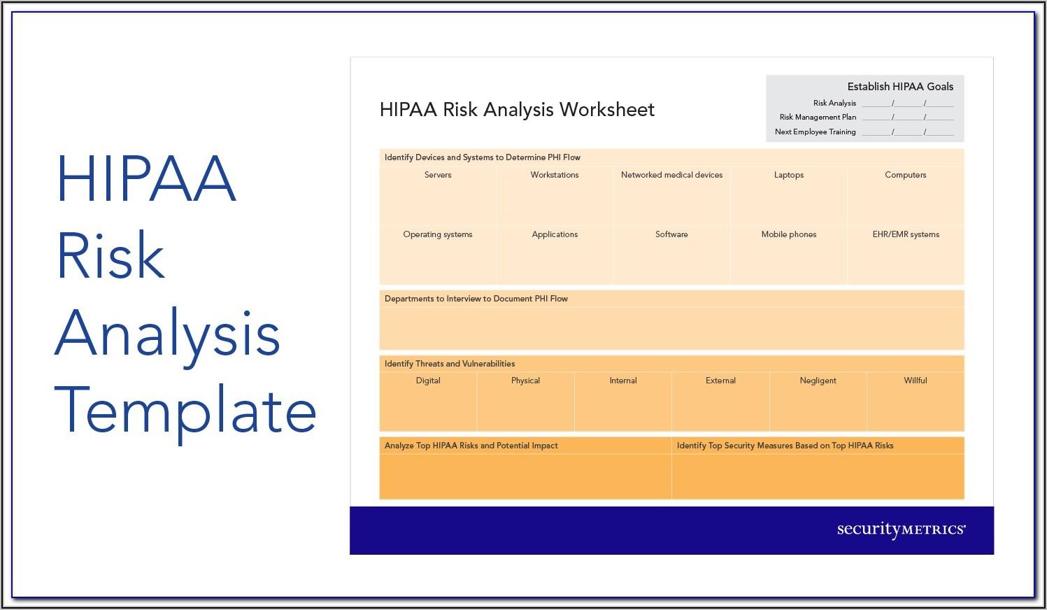 Hipaa Risk Analysis Template