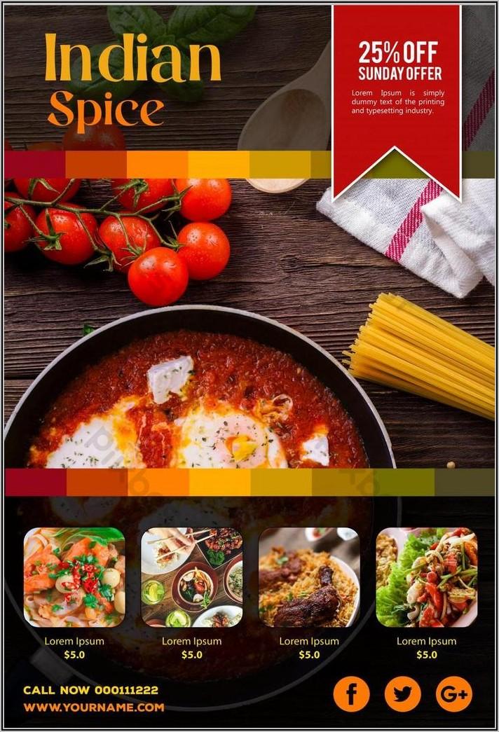Indian Restaurant Flyer Templates Free Download
