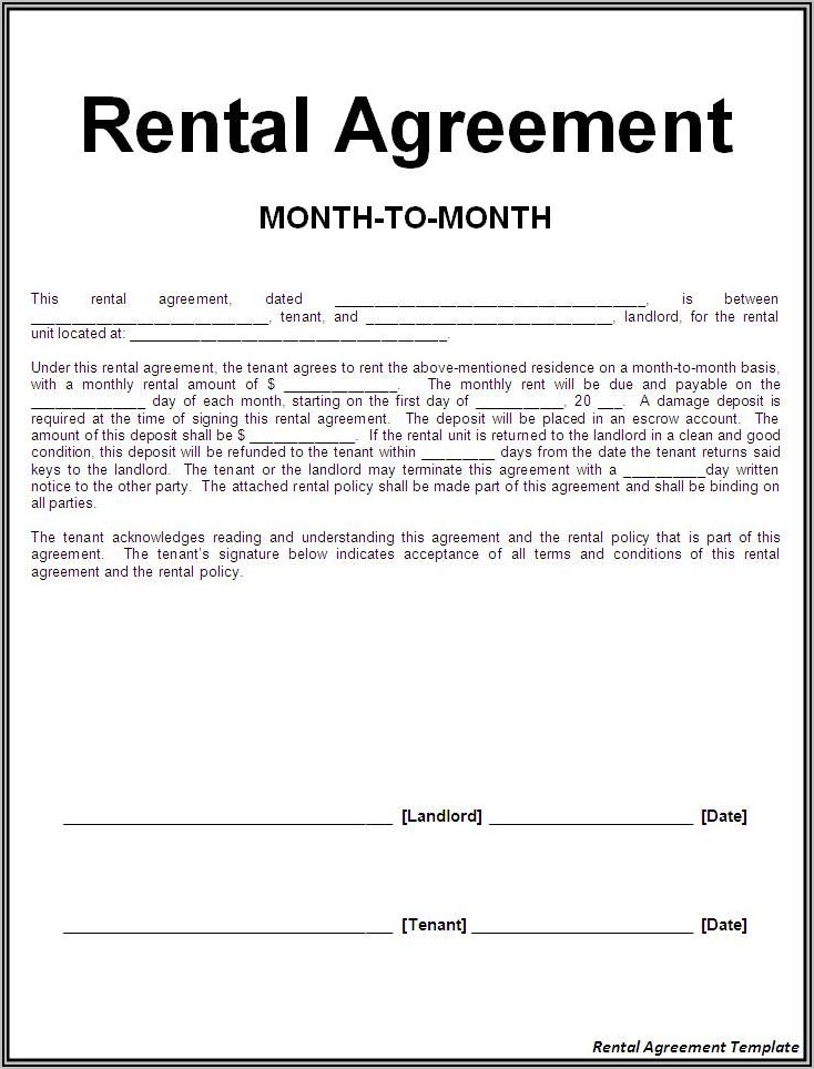 Landlord Tenancy Contract Template