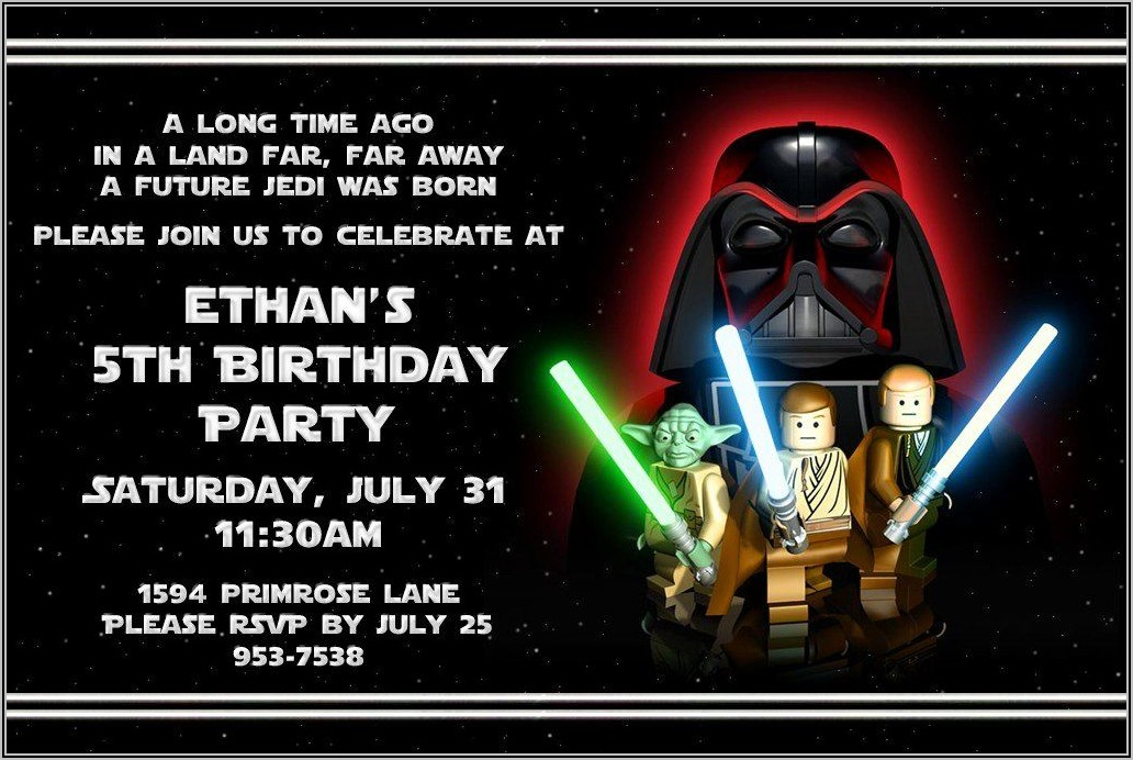 Lego Birthday Party Invites Free