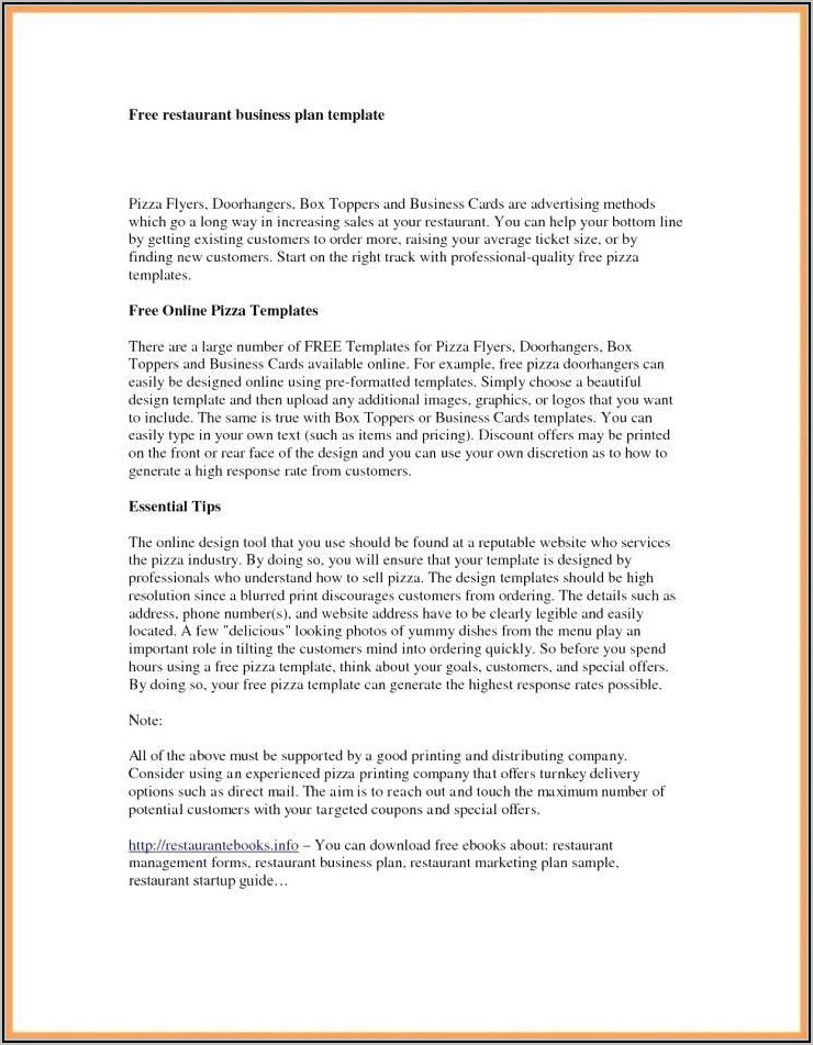 Massage Therapist Business Plan Examples