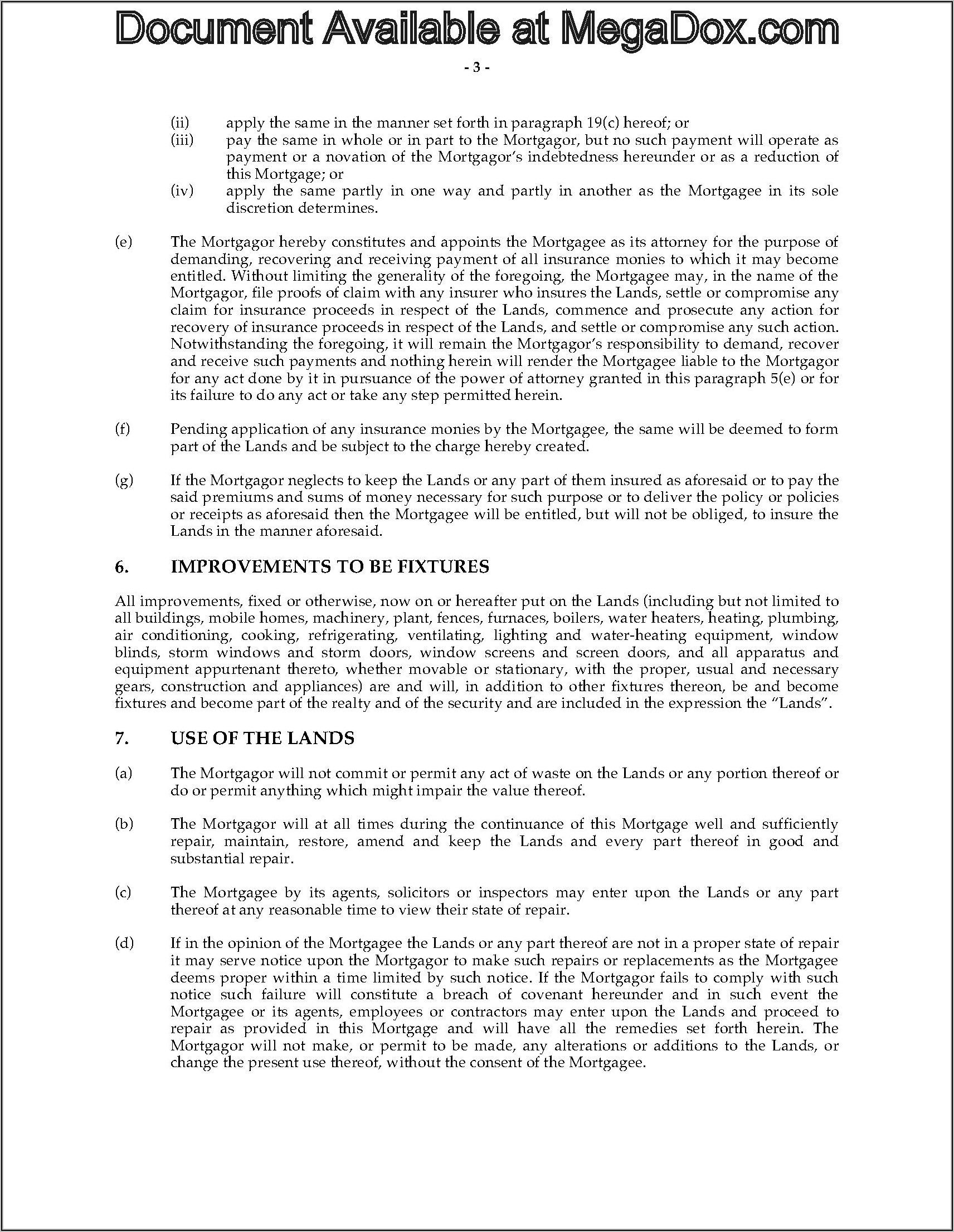 Mortgage And Promissory Note Forms