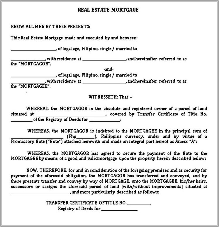 Mortgage Promissory Note Sample