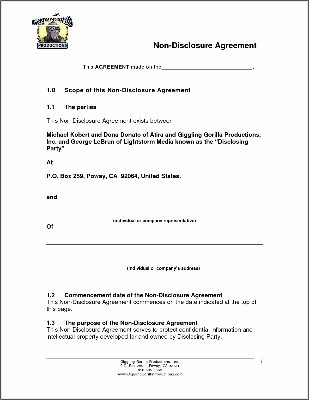 Nanny Confidentiality Agreement Template