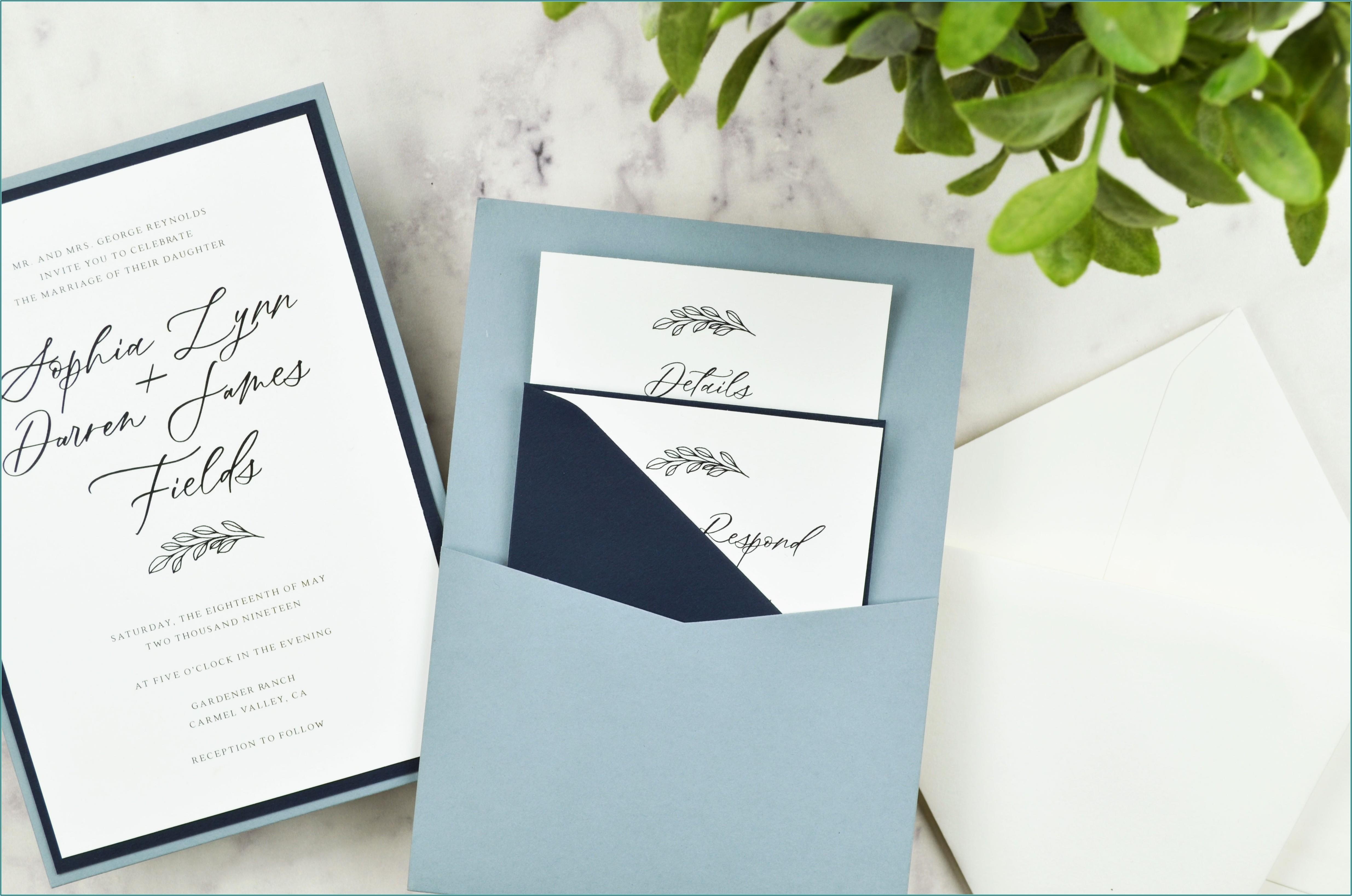 Navy Blue Wedding Invitation Envelopes
