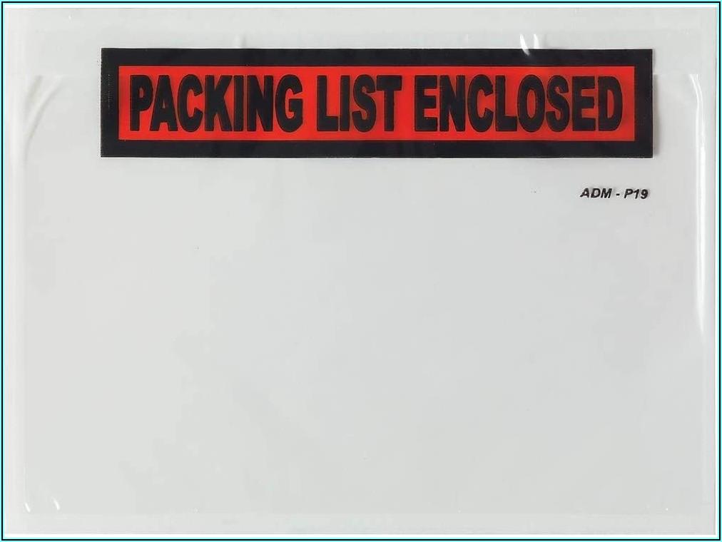 Packing List Envelopes Staples