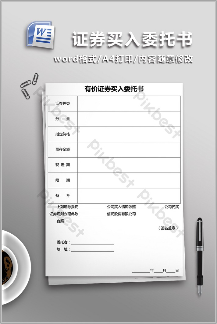 Power Of Attorney Template Word Document