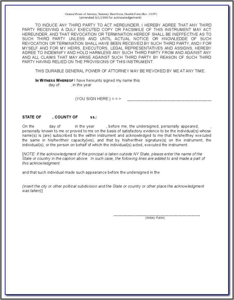 Power Of Attorney Template Word Uk
