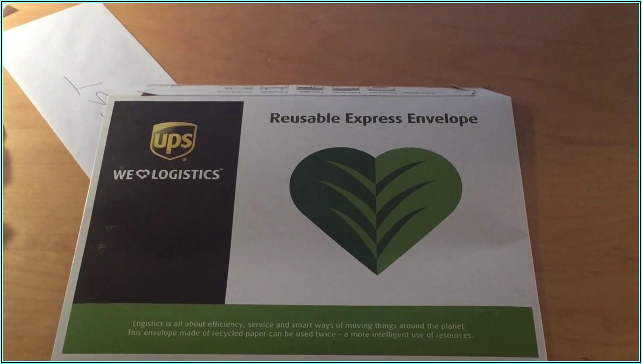 Prepaid Express Mail Envelope Ups
