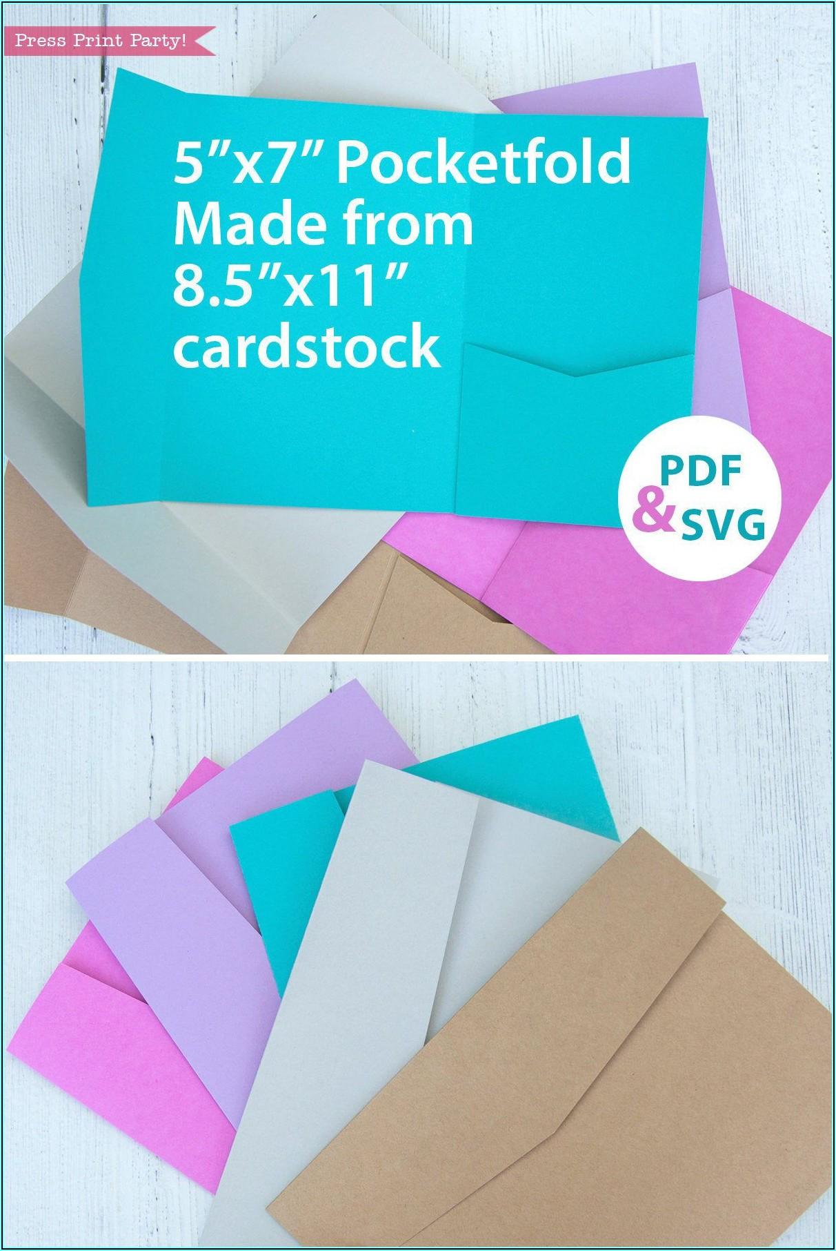 Printable Pocket Invitation Template