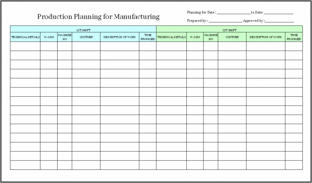 Printable Work Schedule Template