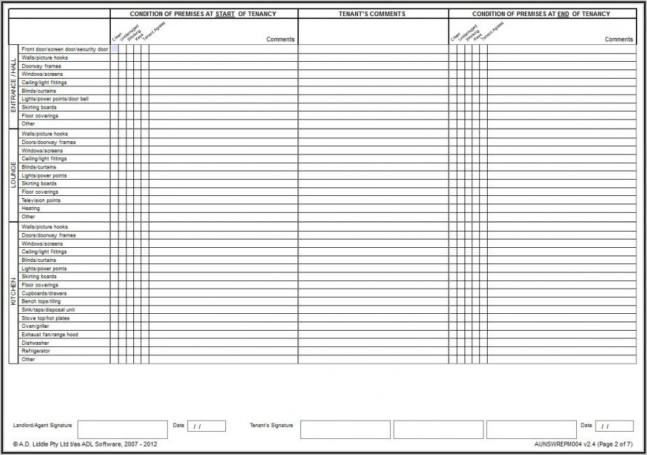 Property Condition Report Template