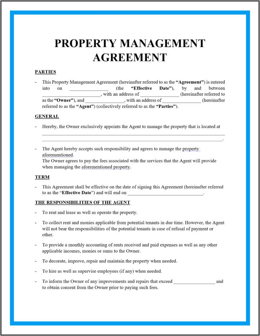 Property Management Fee Proposal Template