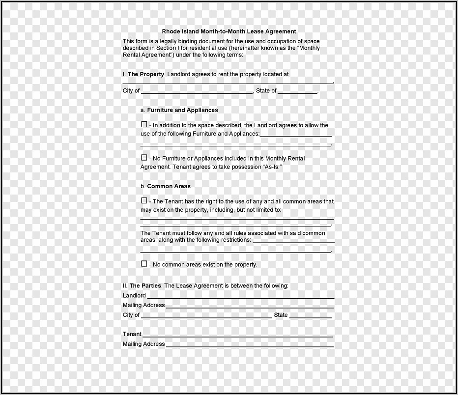 Property Rental Agreement Template
