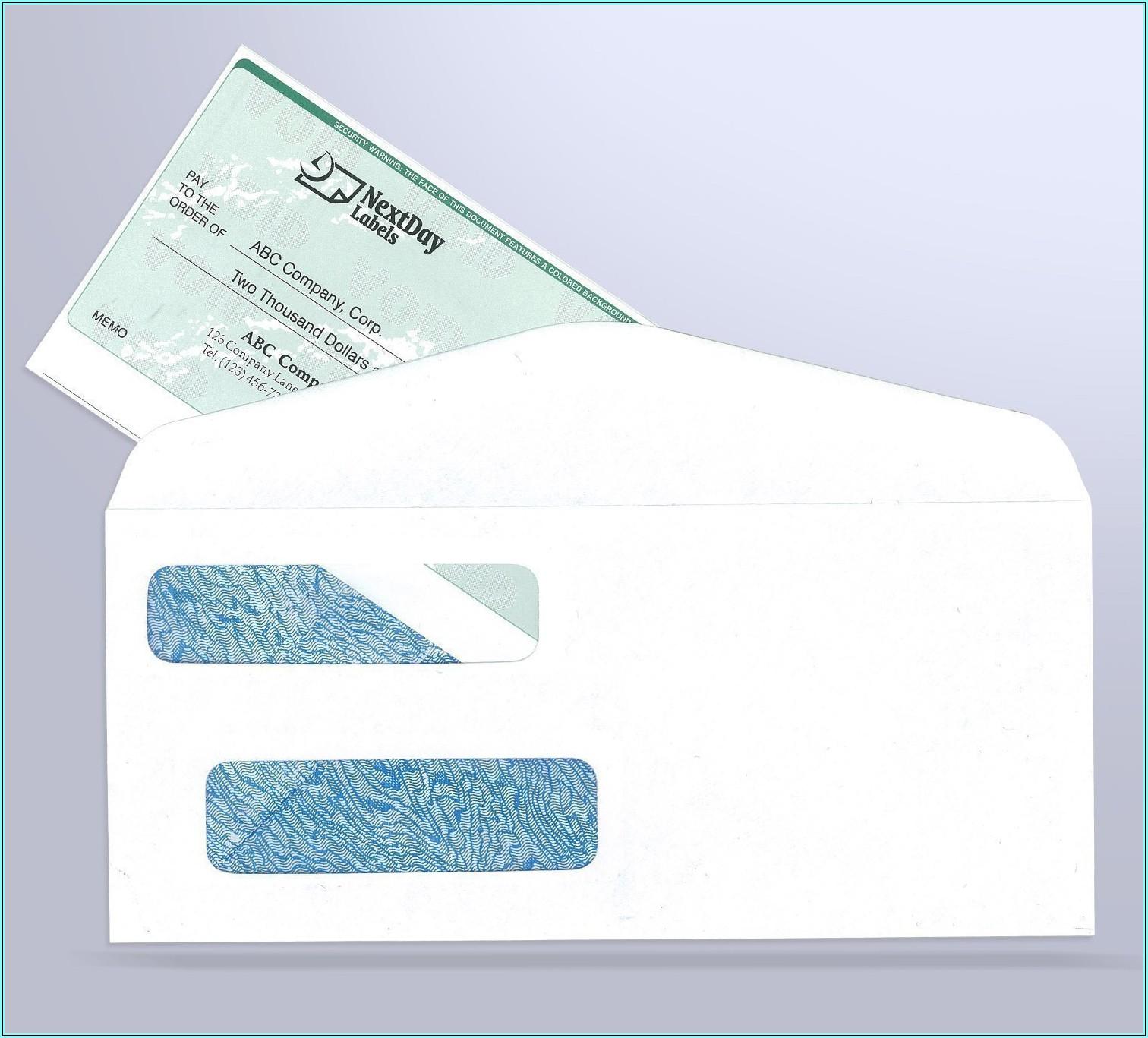 Quickbooks Check Envelopes