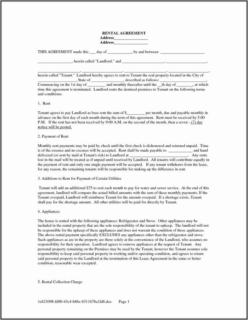 Rental Property Checklist Template