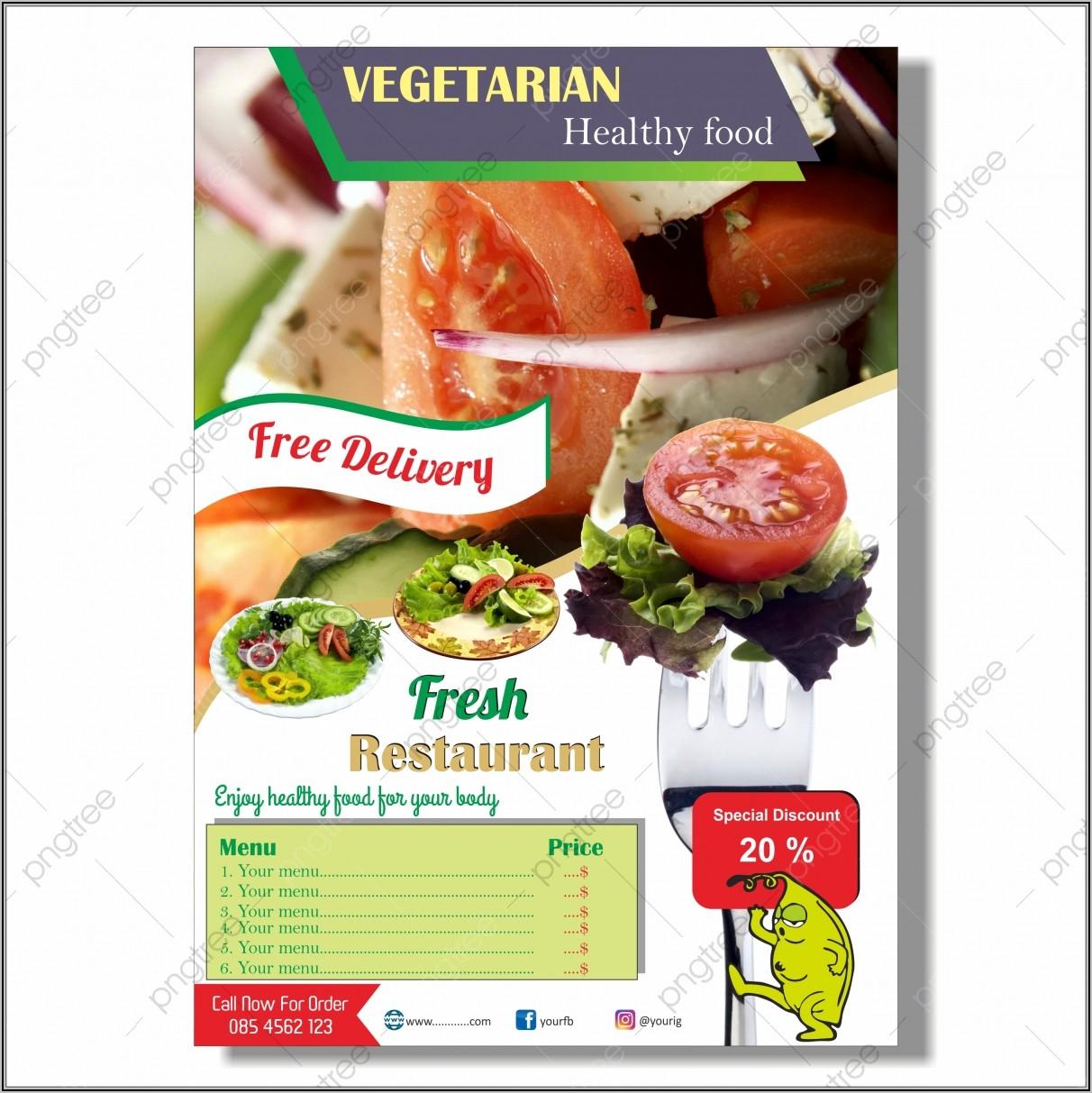 Restaurant Flyer Design Vector Free Download