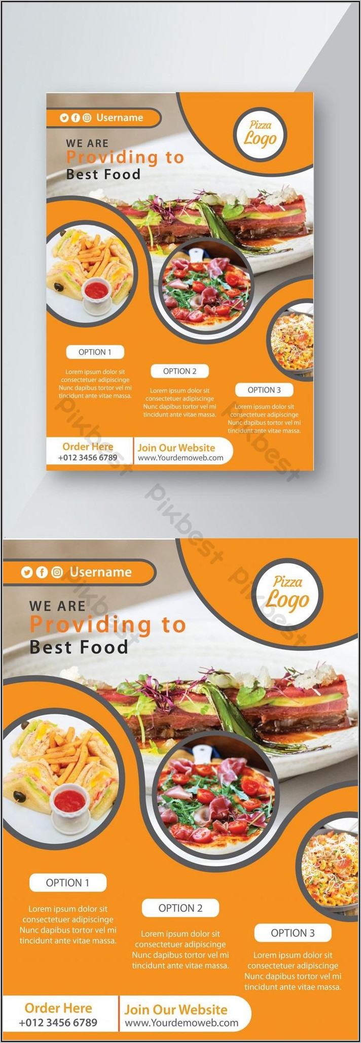 Restaurant Flyer Template Ai Free Download