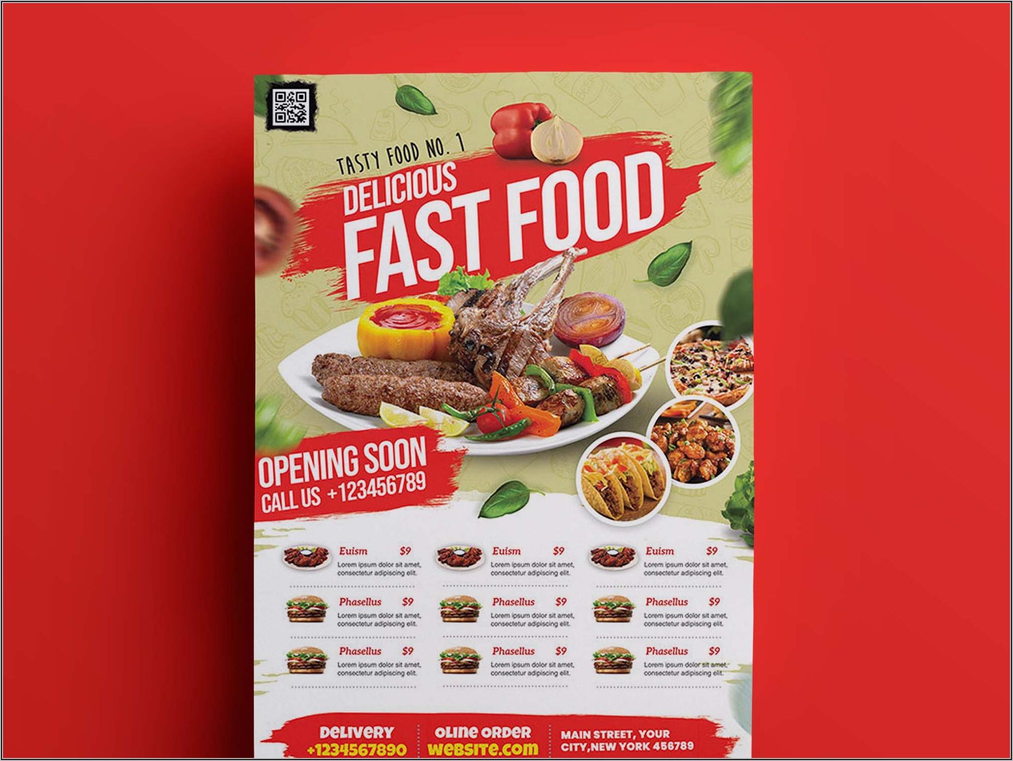 Restaurant Flyer Template Psd Free Download