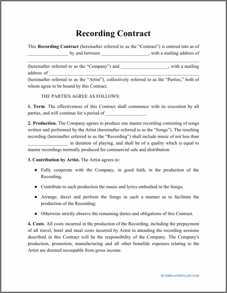 Royalty Agreement Template South Africa