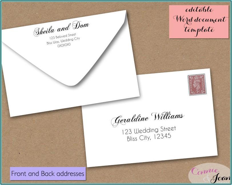 Rsvp Envelope Return Address Etiquette