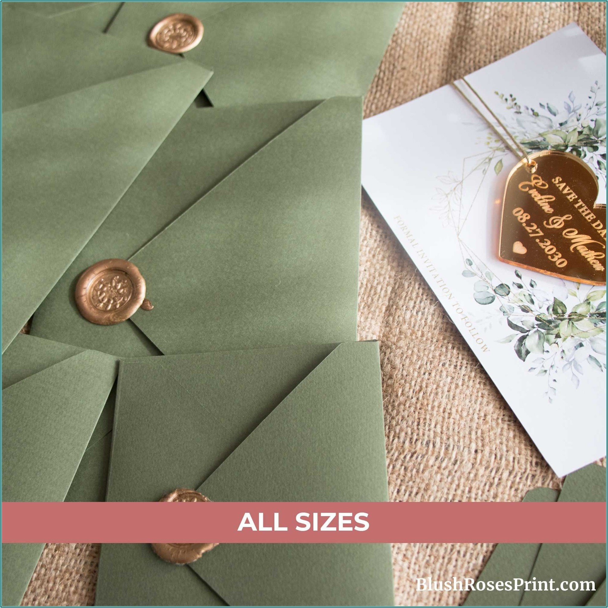 Sage Green A7 Envelopes