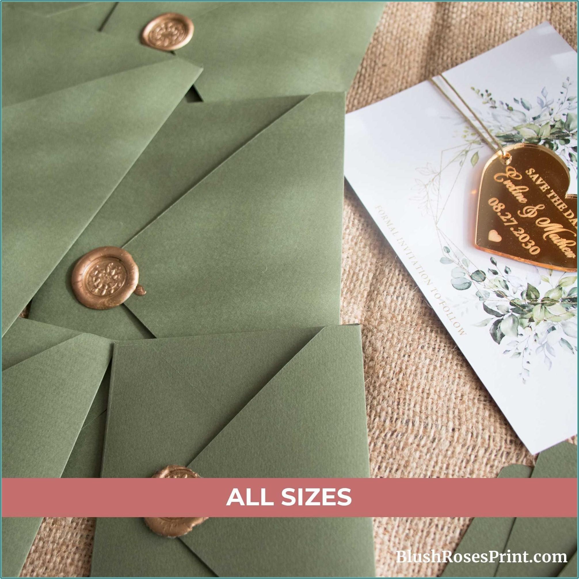 Sage Green Envelopes A7
