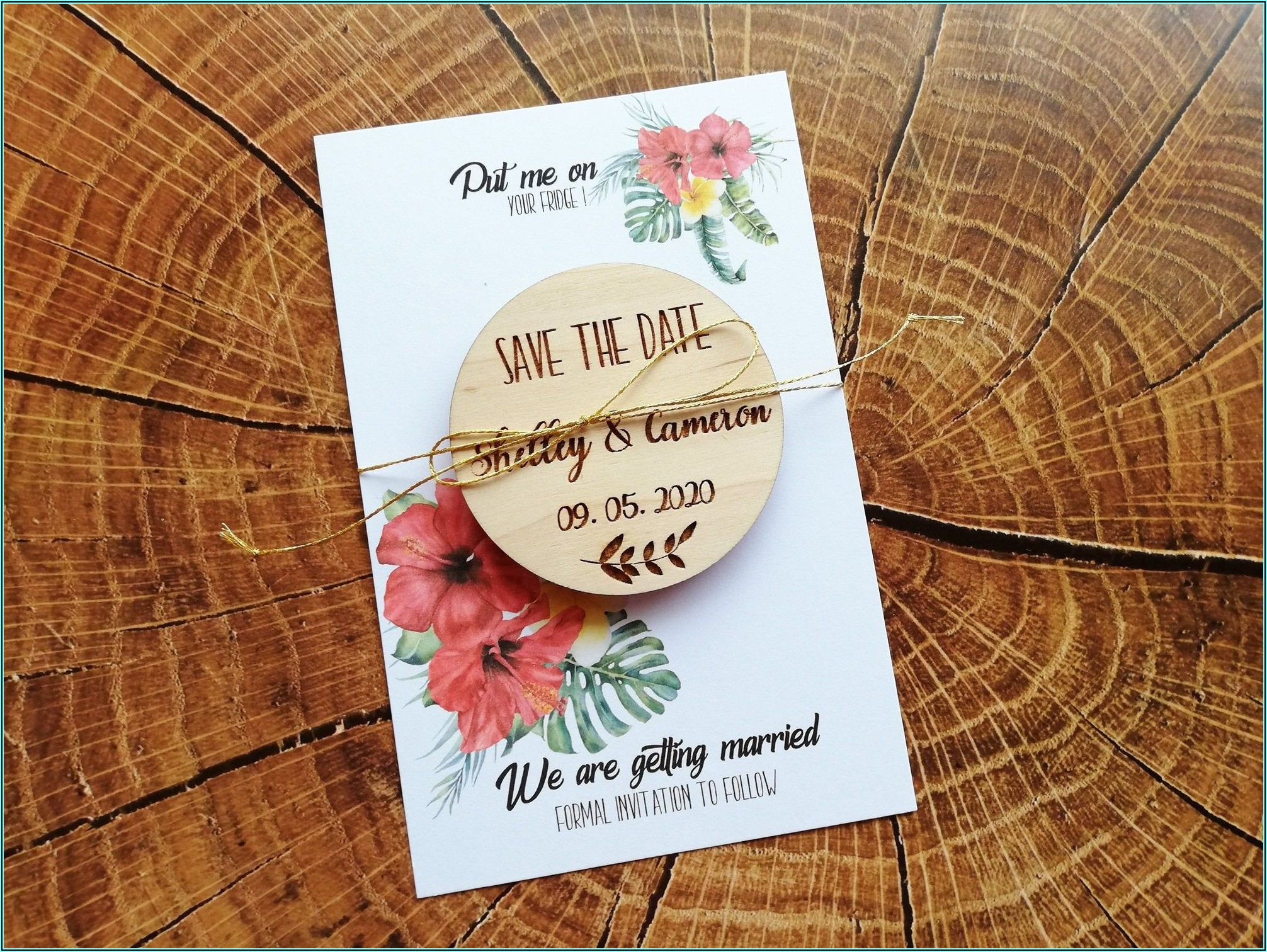 Save The Date Magnets And Envelopes