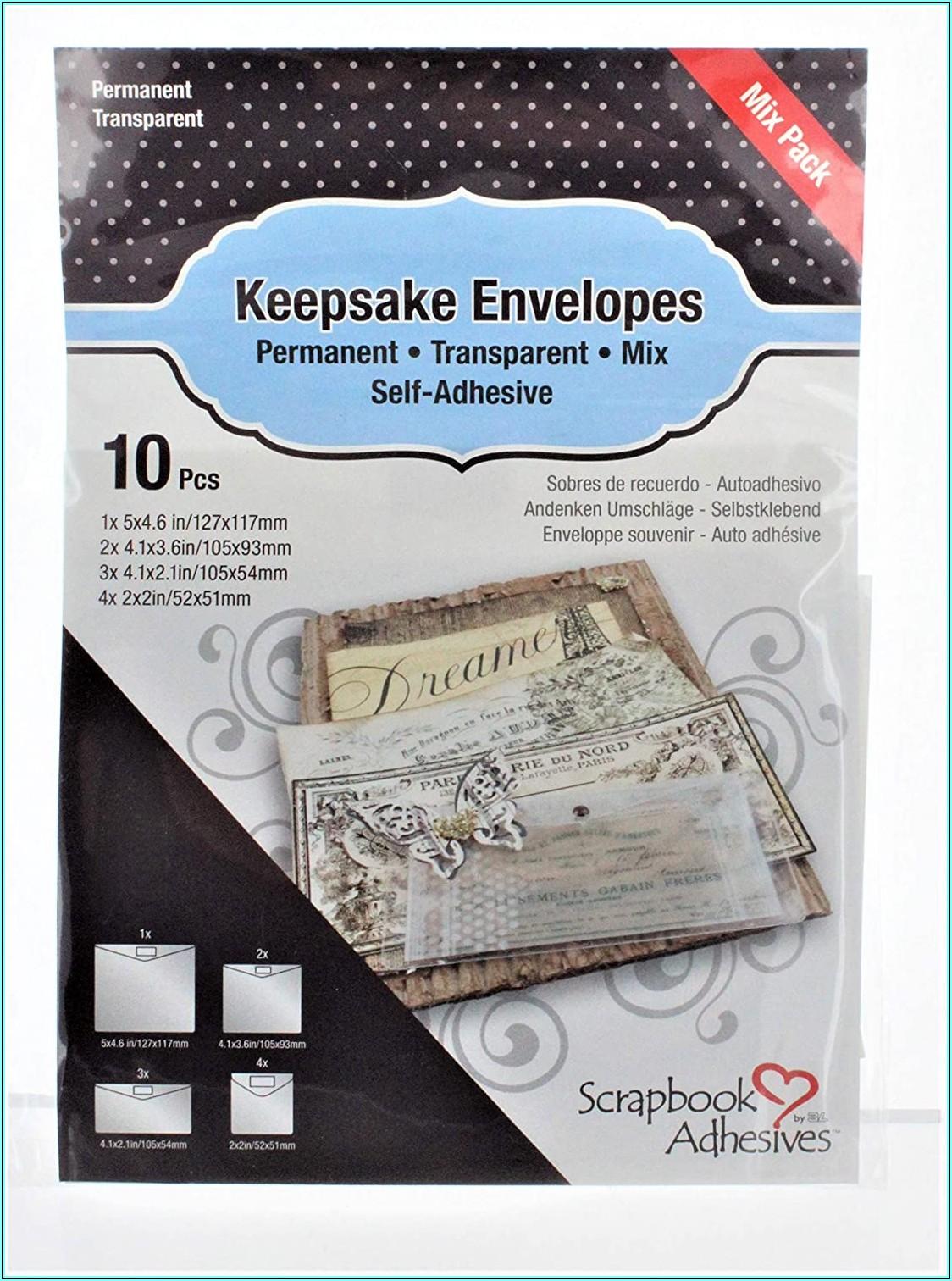 Scrapbook Adhesives Keepsake Envelopes