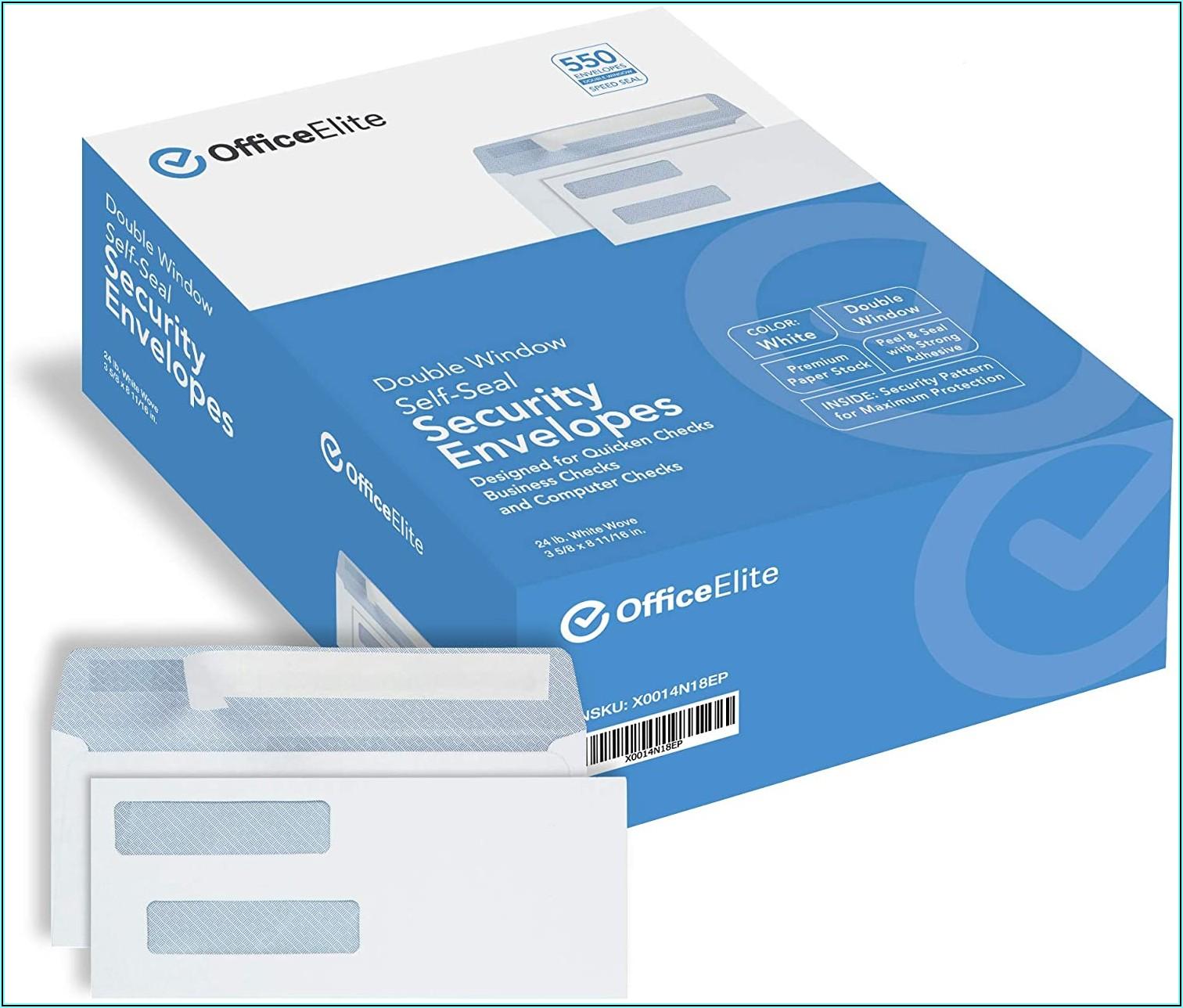 Self Seal Window Envelopes For Quickbooks Checks