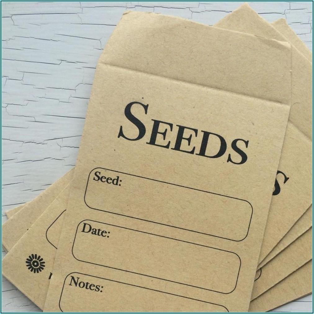 Self Sealing Seed Envelopes