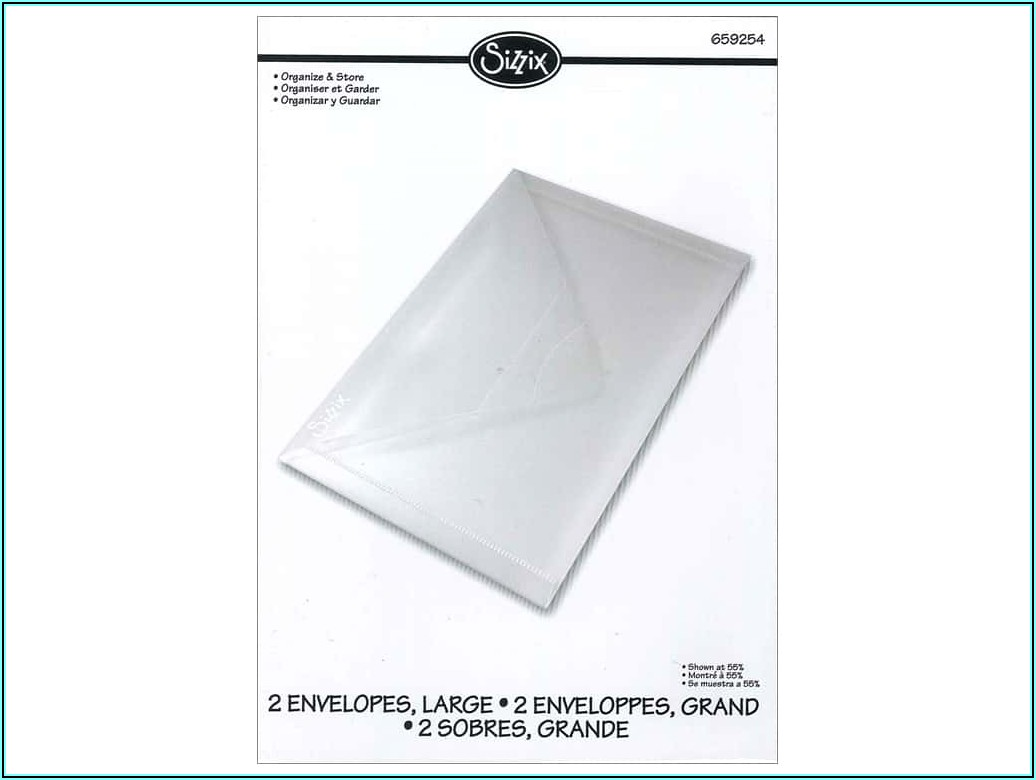 Sizzix Plastic Storage Envelopes