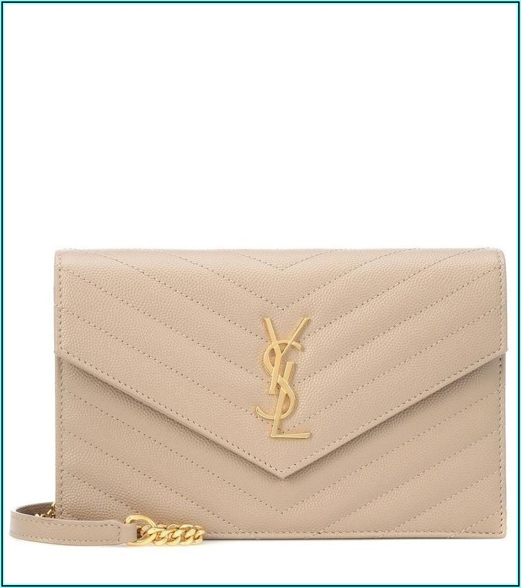 Small Monogram Leather Envelope Wallet Saint Laurent