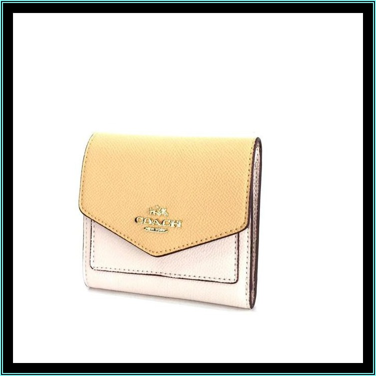 Small Pebbled Leather Trifold Envelope Wallet