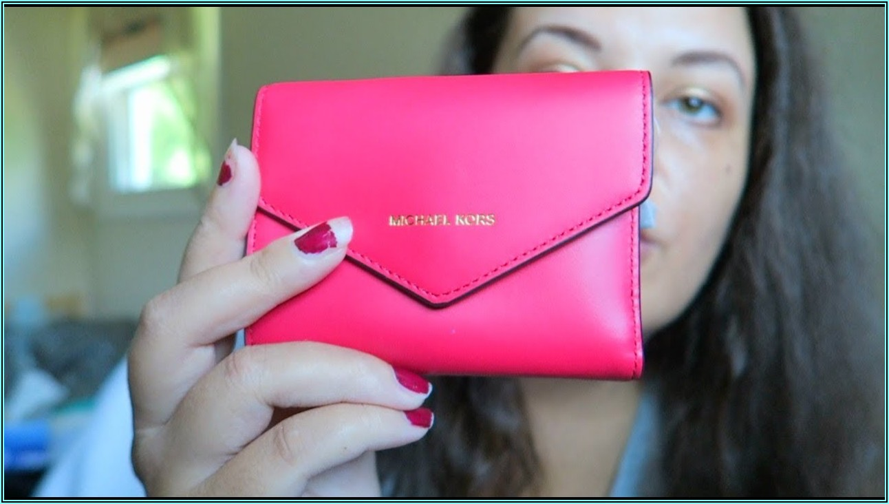 Small Quilted Leather Envelope Wallet Michael Kors