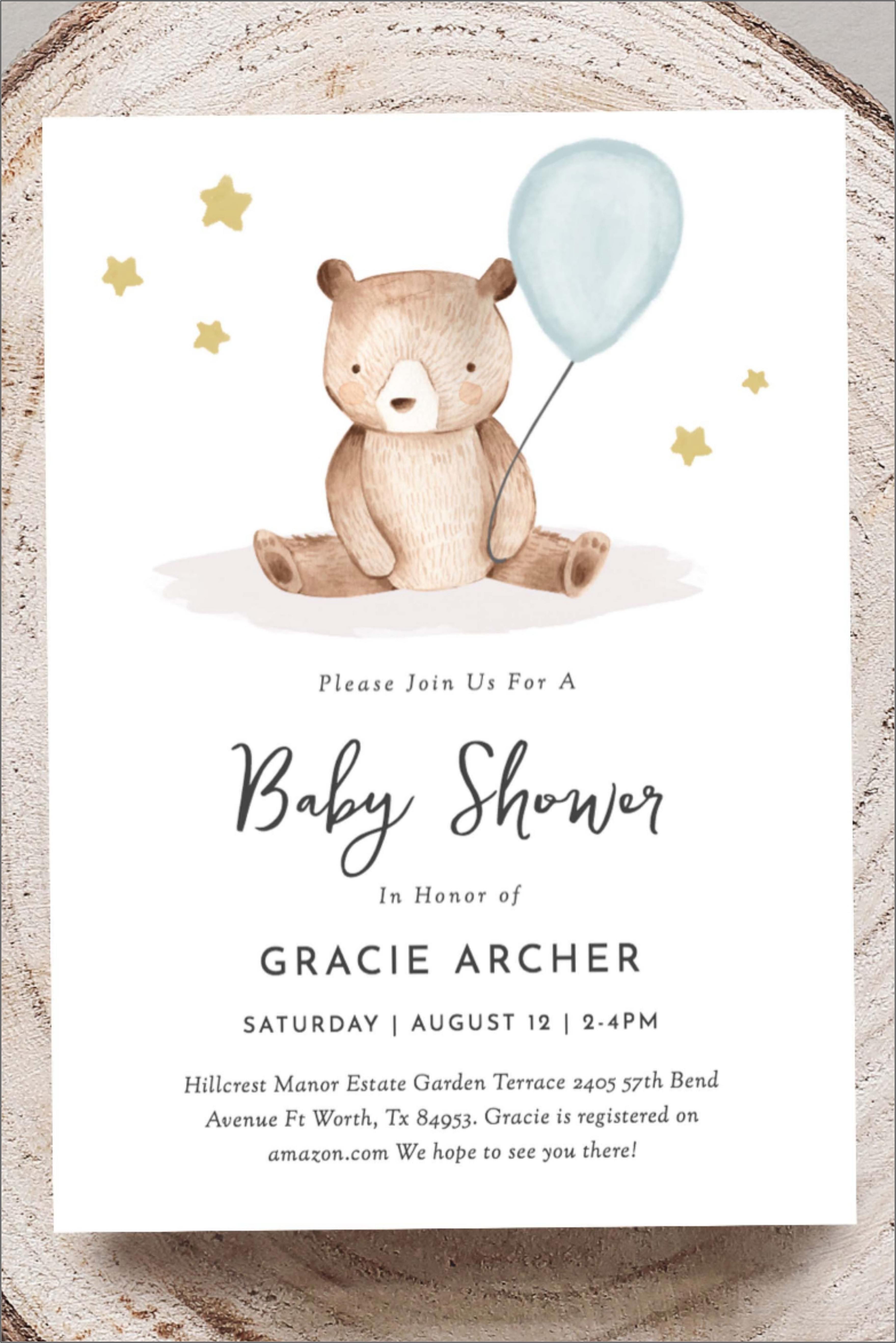 Teddy Bear Invitation Template