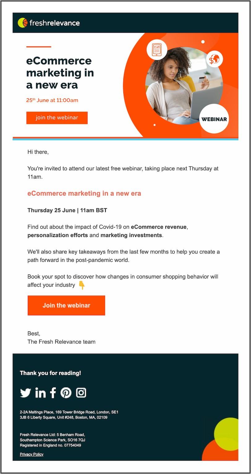 Webinar Invitation Email Example