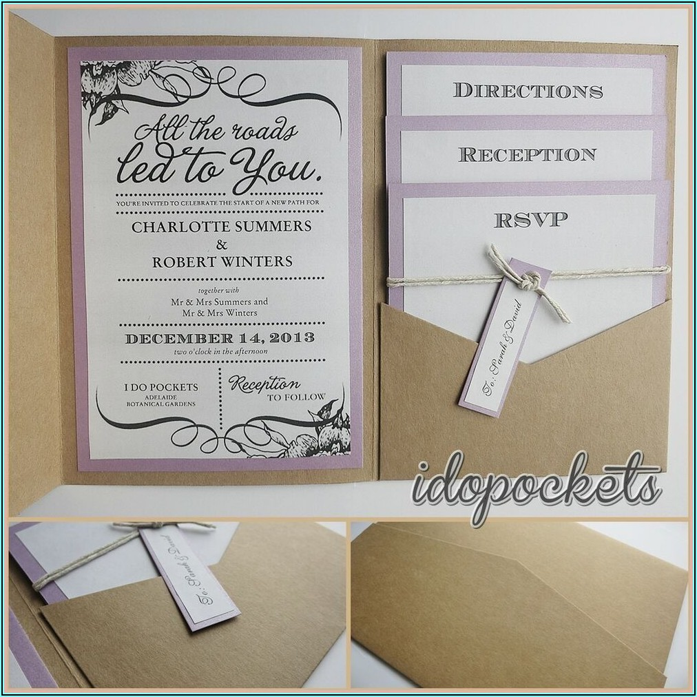 Wedding Invitations Pocket Envelopes