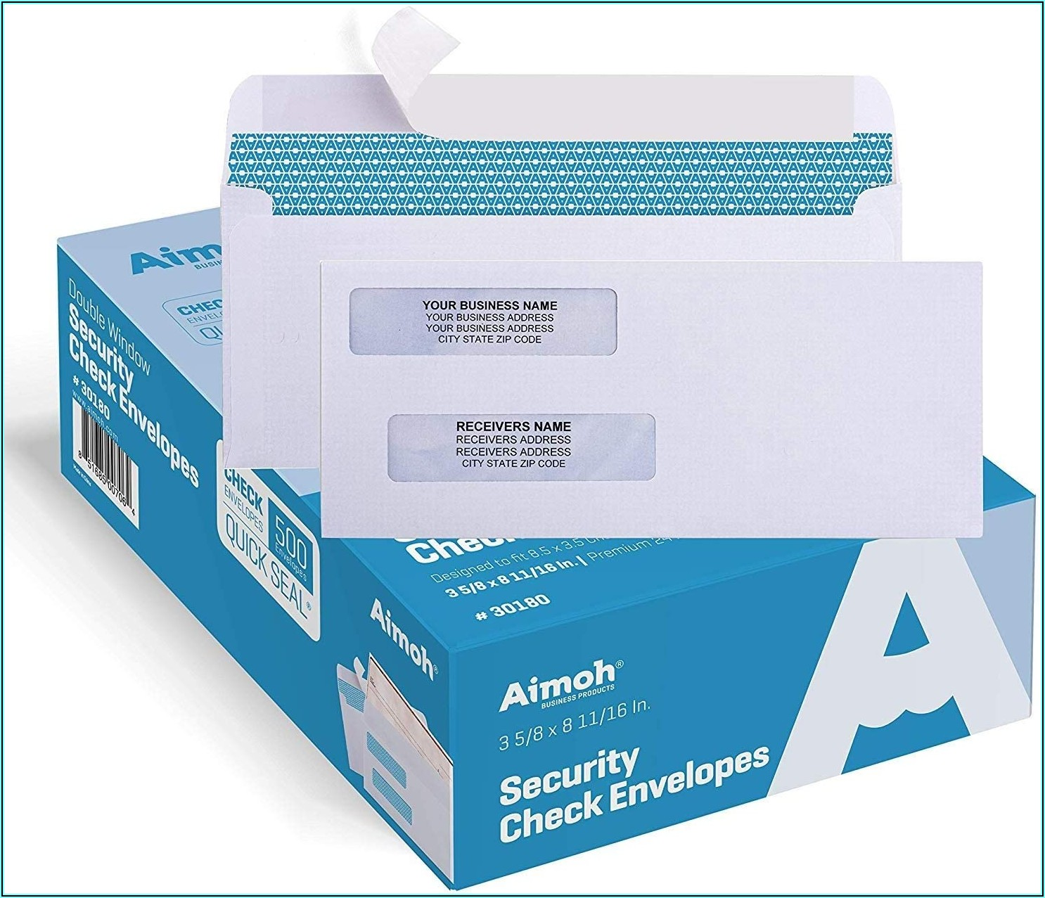 What Size Double Window Envelopes For Quickbooks Checks
