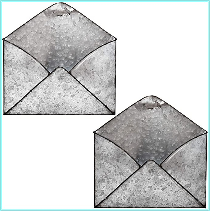 White Metal Envelope Wall Decor